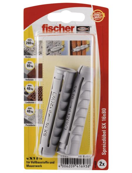 FISCHER Spreizdübel, 2 Stück, 16 x 80 mm