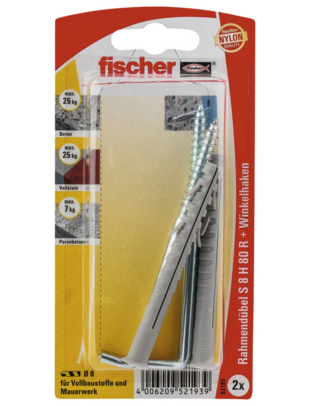 FISCHER Spreizdübel, 2 Stück, 8 x 80 mm