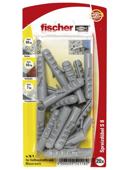FISCHER Spreizdübel, 20 Stück, 8 mm