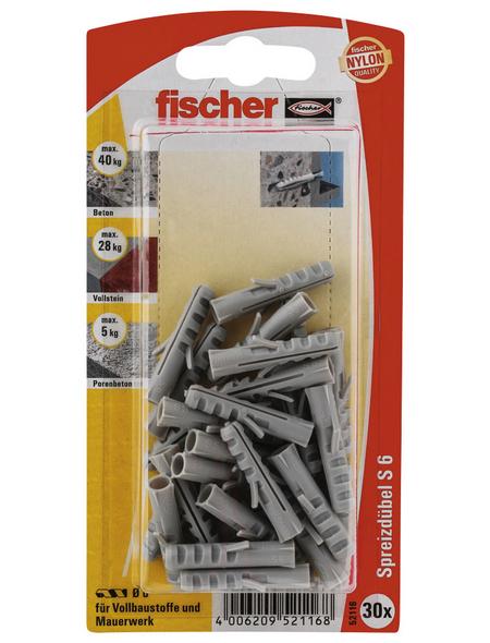 FISCHER Spreizdübel, 30 Stück, 6 mm