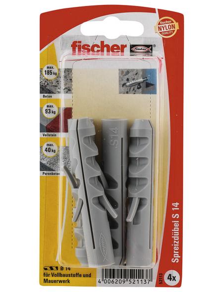 FISCHER Spreizdübel, 4 Stück, 14 mm