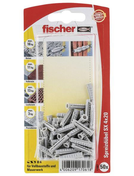 FISCHER Spreizdübel, 50 Stück, 4 mm