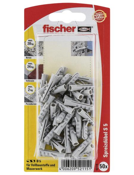 FISCHER Spreizdübel, 50 Stück, 5 mm
