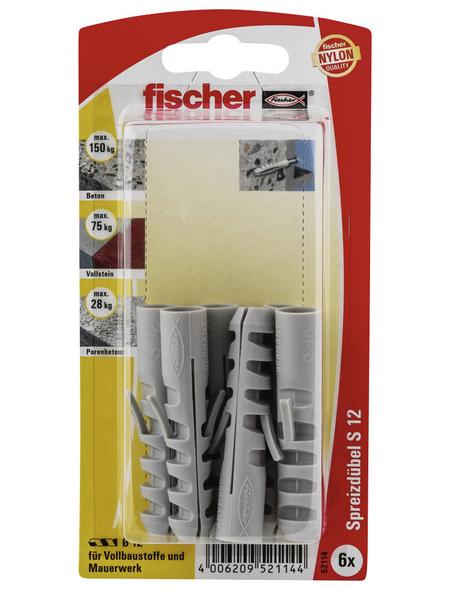FISCHER Spreizdübel, 6 Stück, 12 mm