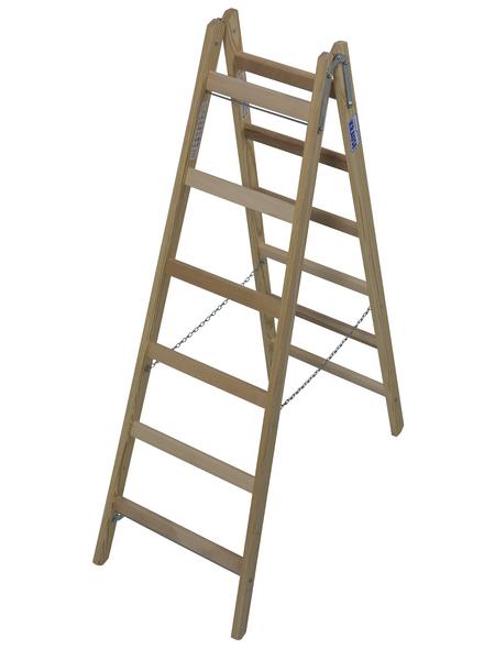 KRAUSE Sprossen-Doppelleiter »STABILO«, Anzahl Sprossen: 12, Holz