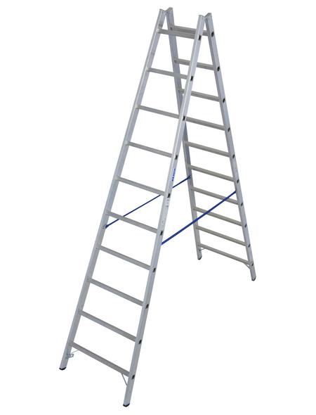 KRAUSE Sprossen-Doppelleiter »STABILO«, Anzahl Sprossen 20