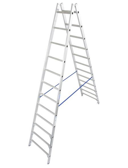KRAUSE Sprossen-Doppelleiter »STABILO«, Anzahl Sprossen 24