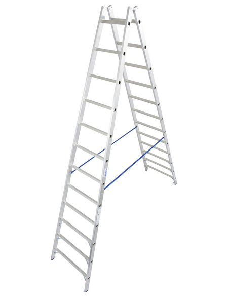 KRAUSE Sprossen-Doppelleiter »STABILO«, Anzahl Sprossen: 24, Aluminium