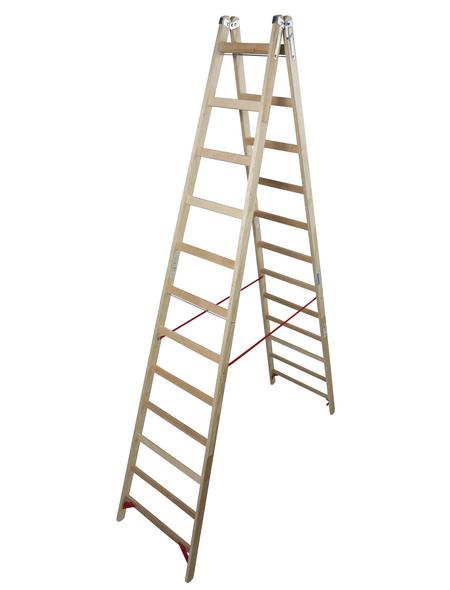 KRAUSE Sprossen-Doppelleiter »STABILO«, Anzahl Sprossen: 24, Holz