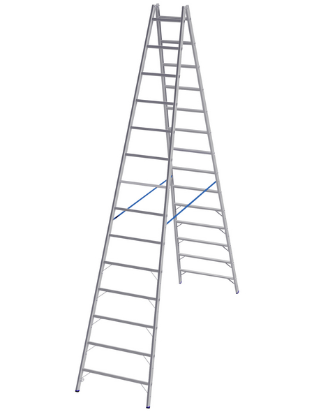 KRAUSE Sprossen-Doppelleiter »STABILO«, Anzahl Sprossen 28