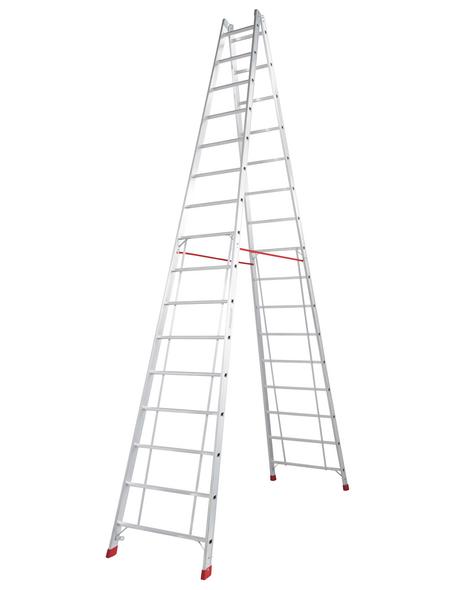 KRAUSE Sprossen-Doppelleiter »STABILO«, Anzahl Sprossen: 32, Aluminium