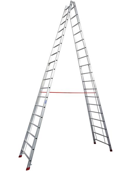 KRAUSE Sprossen-Doppelleiter »STABILO«, Anzahl Sprossen 36