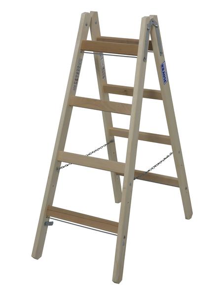 KRAUSE Sprossen-Doppelleiter »STABILO«, Anzahl Sprossen: 8, Holz