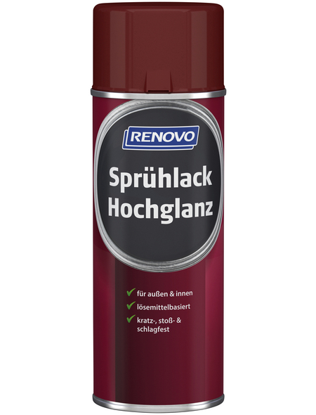 RENOVO Sprühlack, 400 ml, karminrot