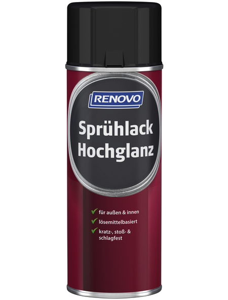 RENOVO Sprühlack, 400 ml, verkehrsschwarz