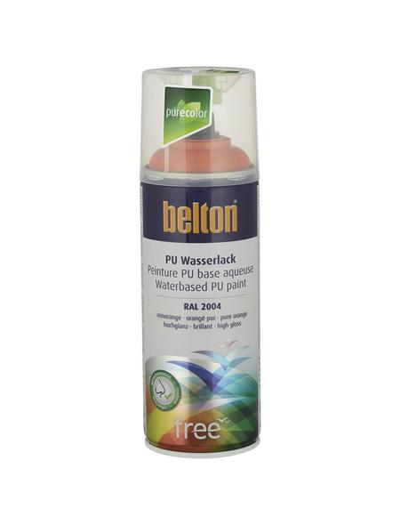BELTON Sprühlack »Free«, auf Wasserbasis, orange