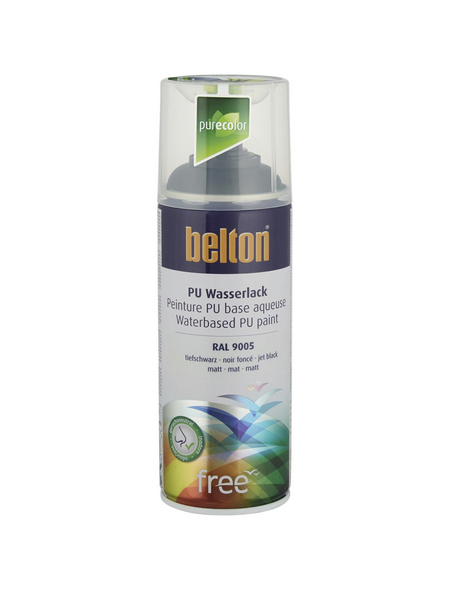 BELTON Sprühlack »Free«, auf Wasserbasis, tiefschwarz