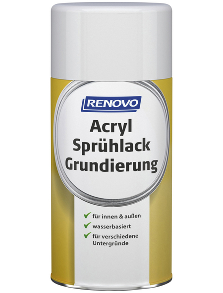 RENOVO Sprühlack-Grundierung, 250 ml, grau