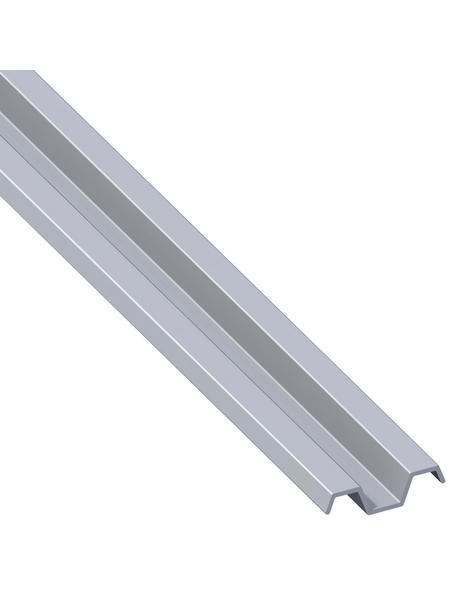 alfer® aluminium Spundwandprofil, BxHxL: 31,4 x 8,4 x 1000 mm, silberfarben