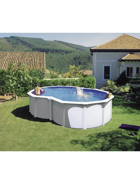 GRE Stahlwand-Pool,  oval, B x L x H: 340 x 500 x 120 cm