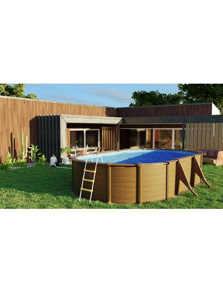 GRE Stahlwand-Pool,  oval, B x L x H: 375 x 610 x 120 cm