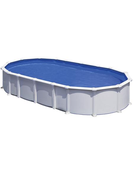 GRE Stahlwand-Pool Poolset , oval, BxLxH: 470 x 800 x 132 cm
