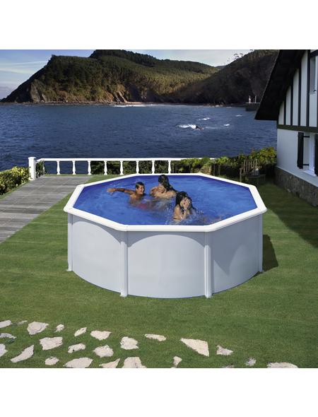 GRE Stahlwand-Pool,  rund, Ø x H: 350  x 120 cm