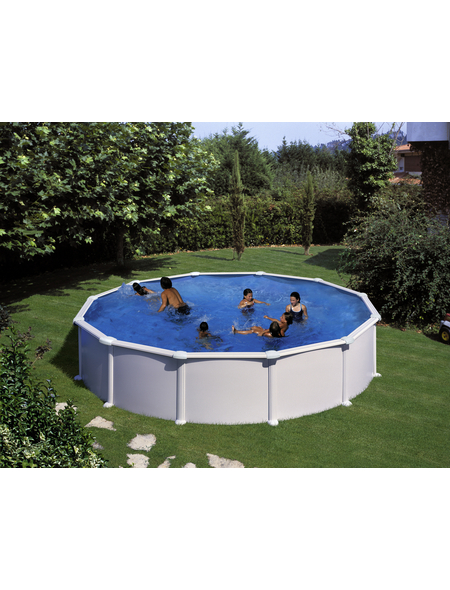 GRE Stahlwand-Pool,  rund, Ø x H: 550  x 132 cm