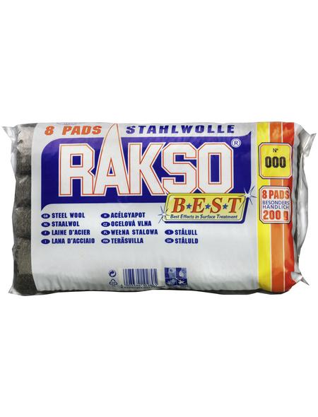 RAKSO Stahlwolleschleifkissen, Stahlwolle, Extra fein 000
