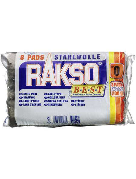 RAKSO Stahlwolleschleifkissen, Stahlwolle, Fein 0