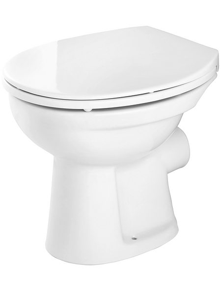 CORNAT Stand WC »Alpha«, Tiefspüler, weiß, mit Spülrand