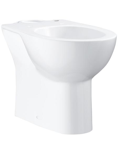 GROHE Stand WC »Bau Keramik«, Tiefspüler, alpinweiß, mit Spülrand