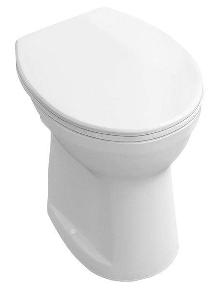 VILLEROY & BOCH Stand-WC-Befestigung, Tiefspüler, alpinweiß, mit Spülrand