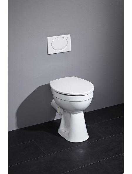 CORNAT Stand WC »Clean Plus«, Flachspüler, weiß, mit Spülrand