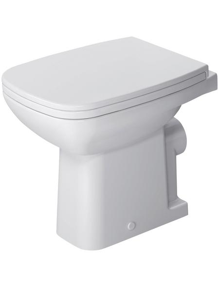 DURAVIT Stand WC »D-Code«, Tiefspüler, weiß, mit Spülrand