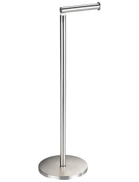 WENKO Stand-WC-Garnitur »2in1«, Edelstahl, matt, silberfarben