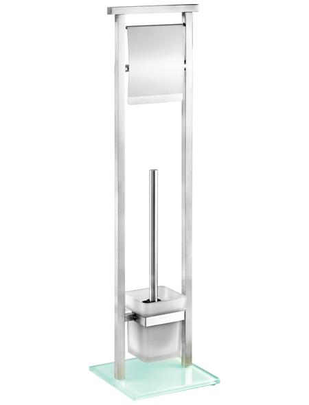 WENKO Stand-WC-Garnitur »Debar«, silberfarben