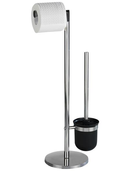 WENKO Stand-WC-Garnitur »Parus«, schwarz