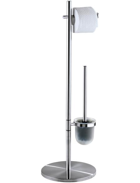 WENKO Stand WC-Garnitur, Pieno, Edelstahl, Silber