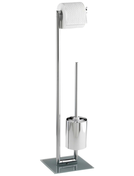 WENKO Stand WC-Garnitur, Style, Stahl, Silber