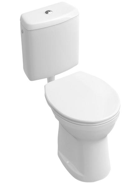 VILLEROY & BOCH Stand WC »O.NOVO«, Flachspüler, alpinweiß, mit Spülrand