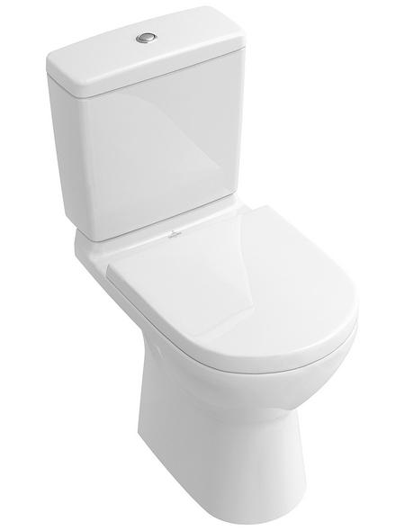 VILLEROY & BOCH Stand WC »O.NOVO«, Tiefspüler, alpinweiß, Spülrandlos
