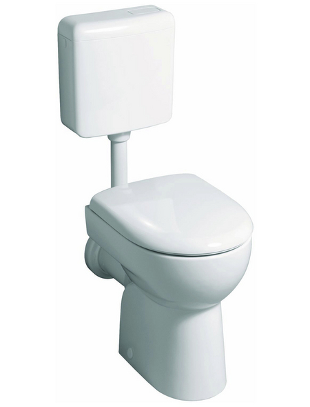 GEBERIT Stand WC »Renova«, Flachspüler, weiß, mit Spülrand