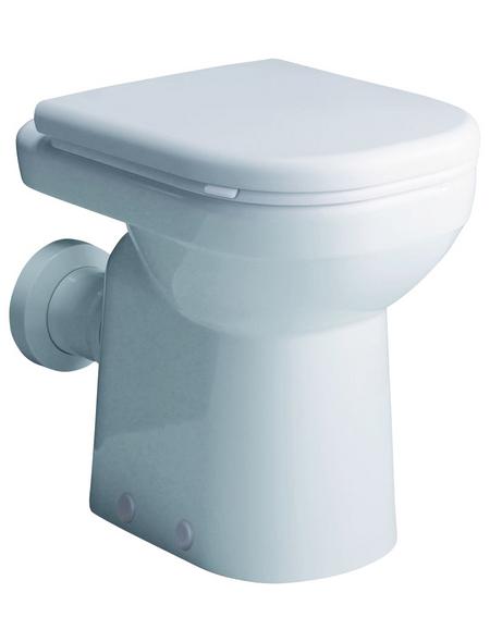 GEBERIT Stand WC »Renova Nr. 1 Comfort«, Tiefspüler, weiß, mit Spülrand