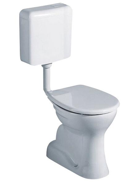 GEBERIT Stand WC »Renova Nr. 1«, Flachspüler, weiß, mit Spülrand