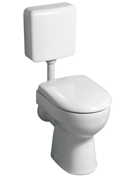 GEBERIT Stand WC »Renova Nr. 1«, Tiefspüler, beige, mit Spülrand