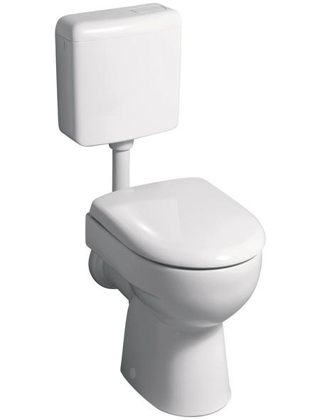 GEBERIT Stand WC »Renova Nr. 1«, Tiefspüler, manhattan, mit Spülrand