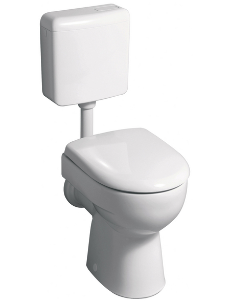 GEBERIT Stand WC »Renova«, Tiefspüler, pergamon, mit Spülrand