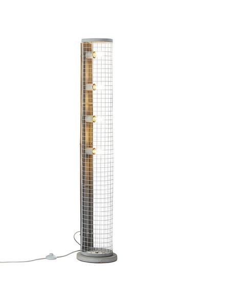 BRILLIANT Standleuchte betonfarben mit 60 W, H: 134,50 cm, E27 ohne Leuchtmittel