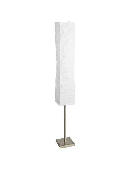 BRILLIANT Standleuchte »Nerva« weiß/nickelfarben mit 40 W, H: 145 cm, E14 ohne Leuchtmittel